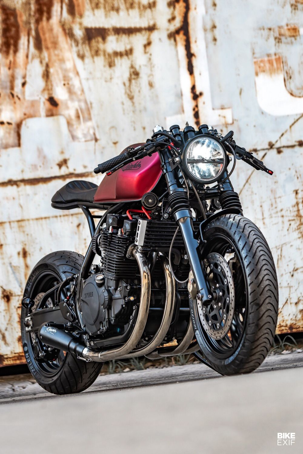 Heavy Hitter K Speed Scales Up With An Xjr 1300 Café Racer Cafe Racer Cafe Racer Motorcycle Vintage Cafe Racer