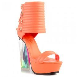 #orange #shoes #heels #fashion