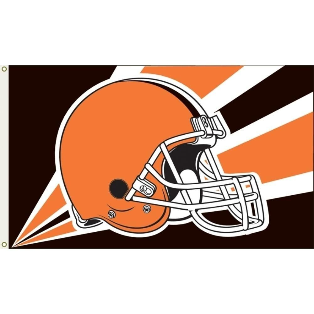 Cleveland Browns Helmet Flag 3x5 Ft Banner 100d Polyester Nfl Flag 114 In 2020 Nfl Flag Nfl Teams Logos Nfl