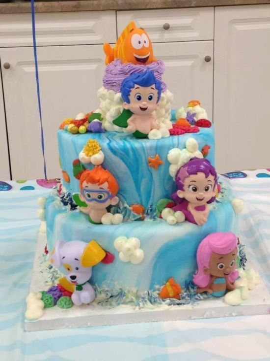 Stupendous Cute Bubble Guppies Cake 550733 Bubble Guppies Birthday Birthday Cards Printable Trancafe Filternl