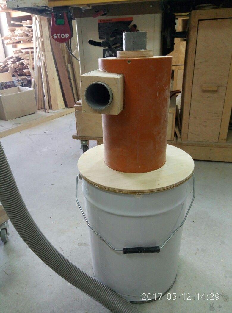 циклон для пылесоса из канализационнй трубы.