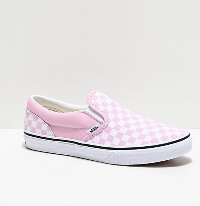 Pink checkered vans | Vans shoes women