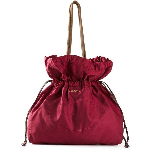 92d41d86168ddf Prada Vintage Drawstring Bag ($500) ❤ liked on Polyvore featuring bags,  handbags, tote bags, red, prada tote bag, drawstring tote, drawstring purse,  prada ...