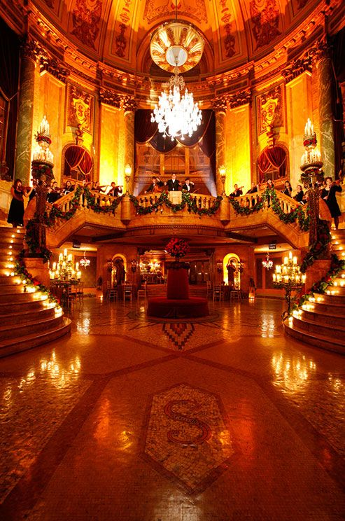 Grand Foyer Filled With Candles