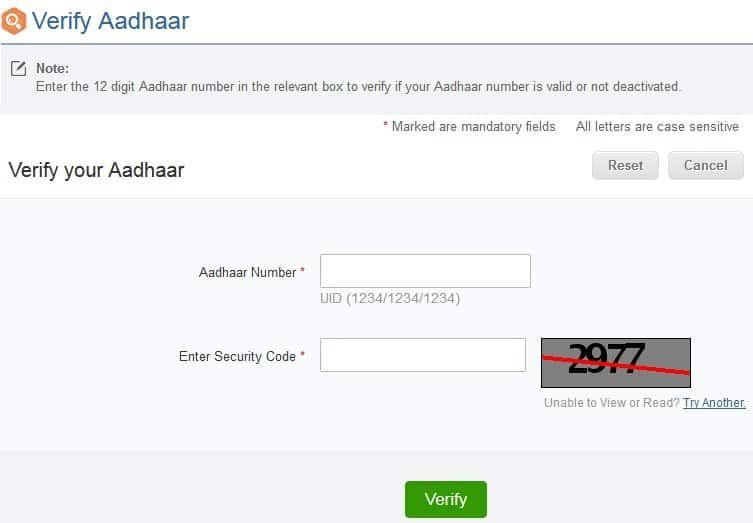 How To Verify Aadhaar Card Number Active Status Verify Numbers Status