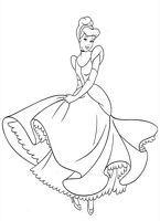 Kolorowanki Kopciuszek Disney Obrazek Dla Dziewczynki Do Wydruku