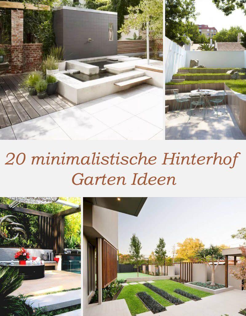 20 Minimalistische Hinterhof Garten Ideen Die Sie In Ihrem