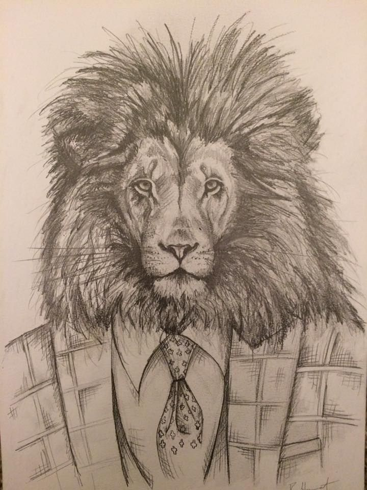 My son-in-law is a keen artist! Love this lion. Visit him on facebook at bstew_art