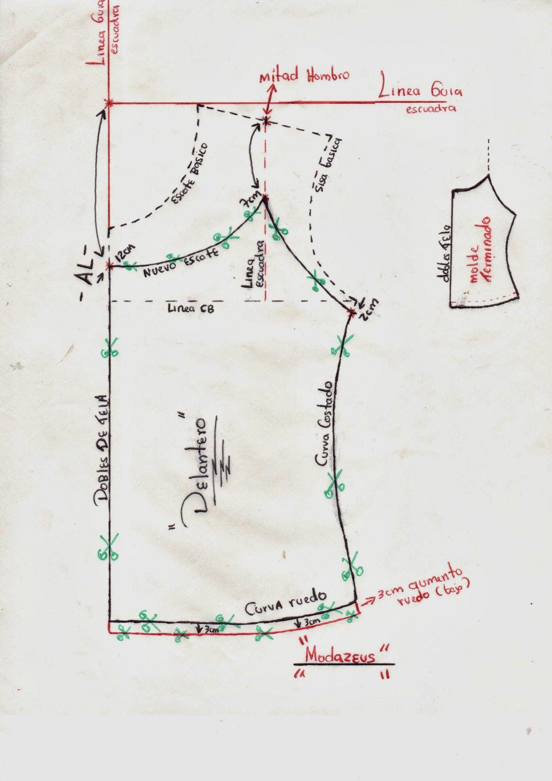 Pin de Martha Abalco en sosten | Costura, Blusas y Moldes