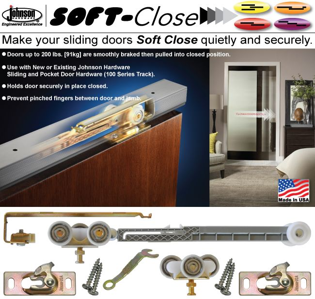 Johnson Hardware Soft Close Pocket Door Hardware Door Hardware Pocket Doors