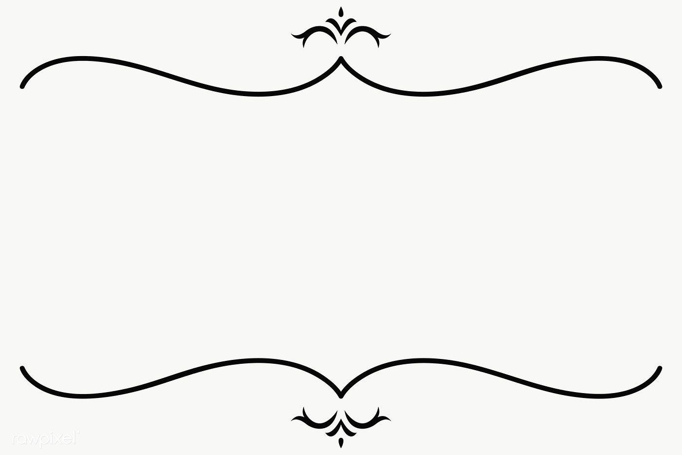 Download Premium Png Of Vintage Line Border Transparent Png 2021350 Frame Border Design Image Fun Vintage Ribbon