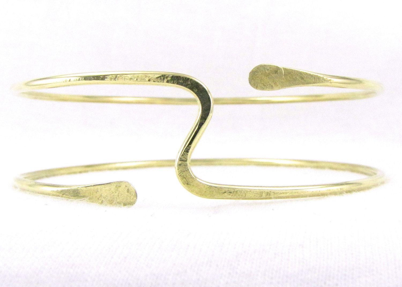 Brass Armlet Brass Upper Arm Cuff Brass Arm Torc Upper by Cuprum29, $24.00