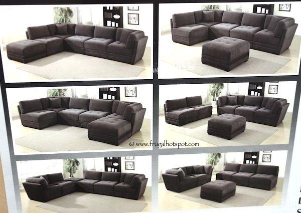 6-Piece Modular Fabric Sectional Costco : 7 piece modular sectional - Sectionals, Sofas & Couches