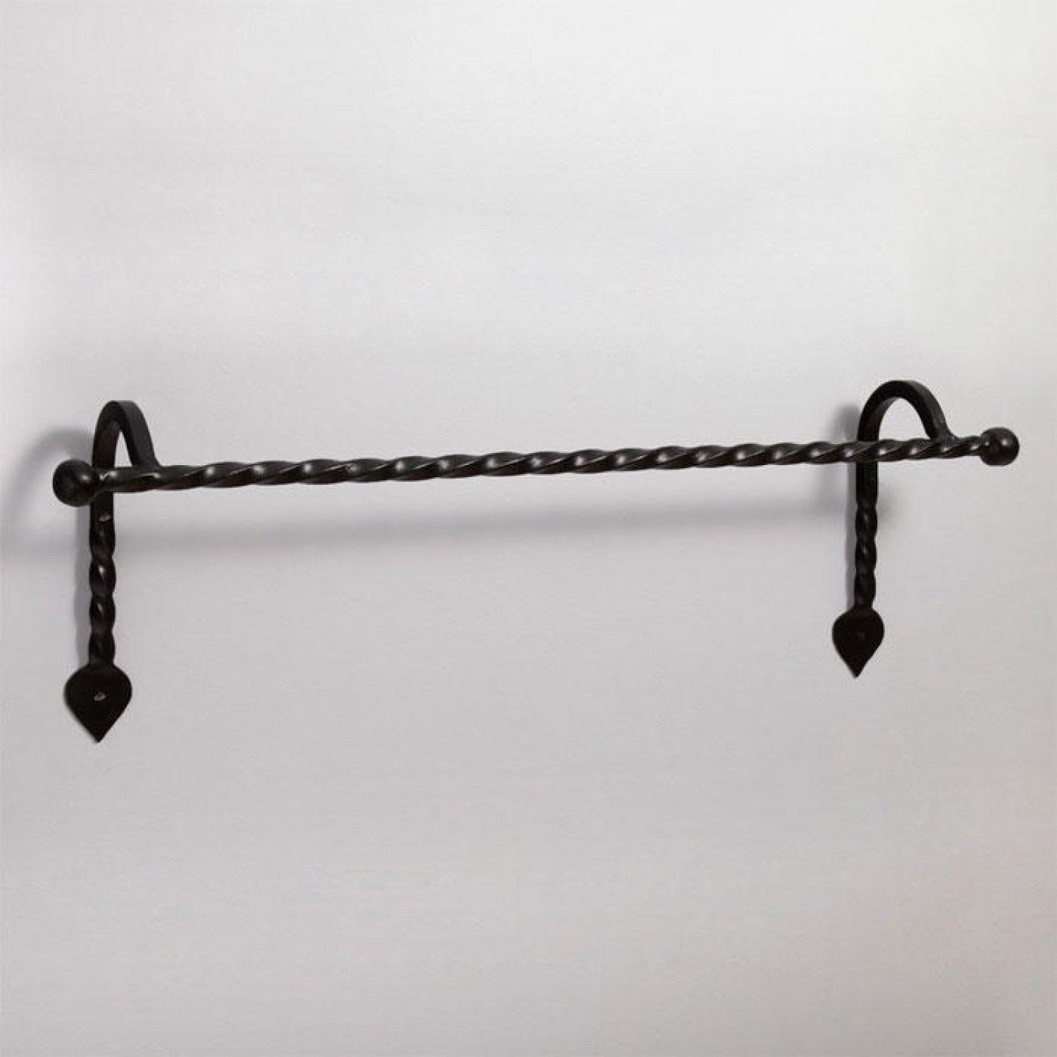 Gothic Collection Cast Iron Towel Bar Matte Black Powder Coat