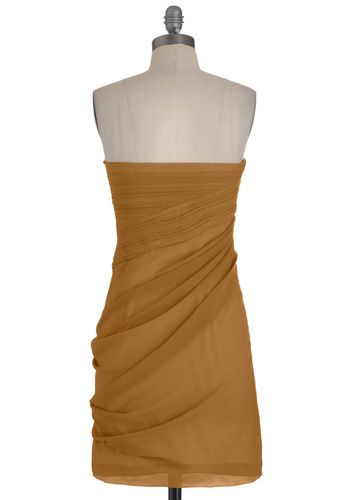 Wave to the Crowd Dress in Sepia