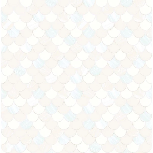 Catalina Scales Wallpaper In White Pearl And Aqua From The Tortuga C Wall Coverings Seabrook Pearl Wallpaper