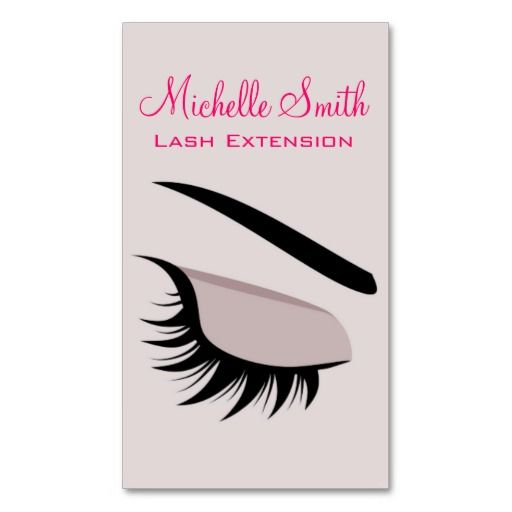 eye with long lashes lash extension business card business card template - Eyelash Extension Business Cards