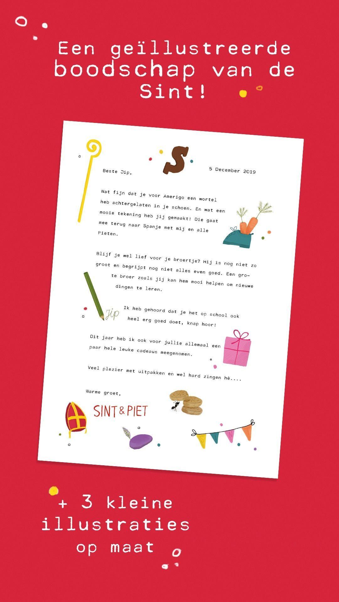 Een brief van Sinterklaas #briefvansinterklaas Wil jij je kindje ook een geïllustreerde boodschap meegeven van de Sint? Nu vanaf €8,95 #briefvansinterklaas