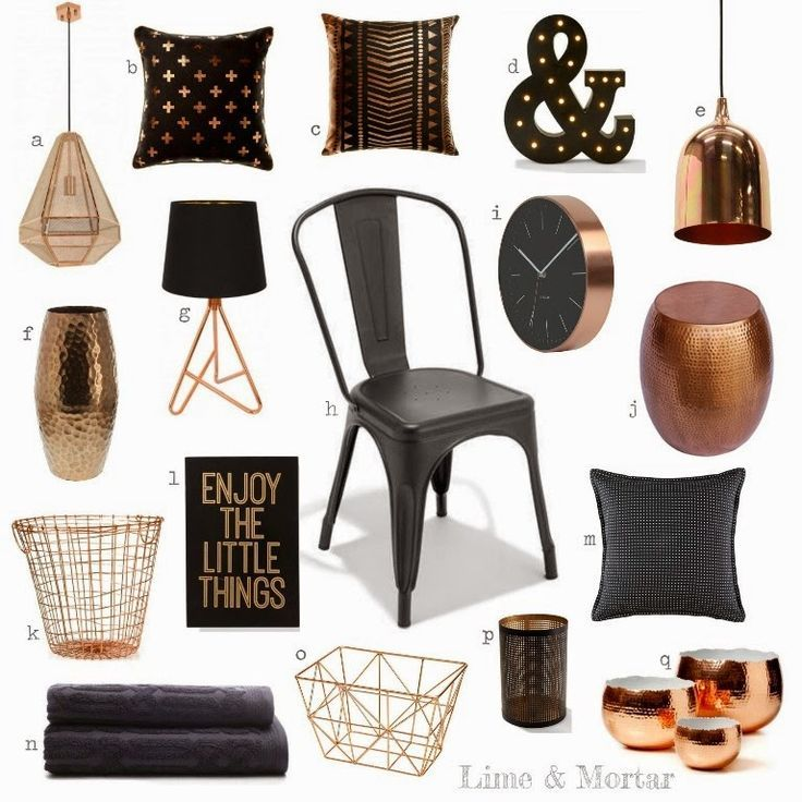 black and copper bedroom - Google Search