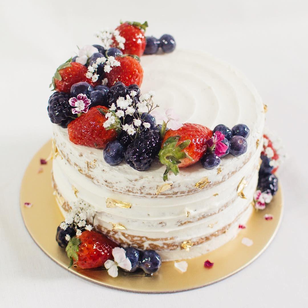 Happy Tuesday Berry Cake Fresh Fruit Cake Fruit Wedding Cake