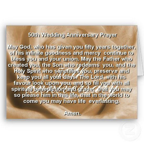 Pin By Maureen Devine On 50th Anniversary Ideas Secret Wedding Anniversary Prayer 50th Wedding Anniversary 50th Year Wedding Anniversary