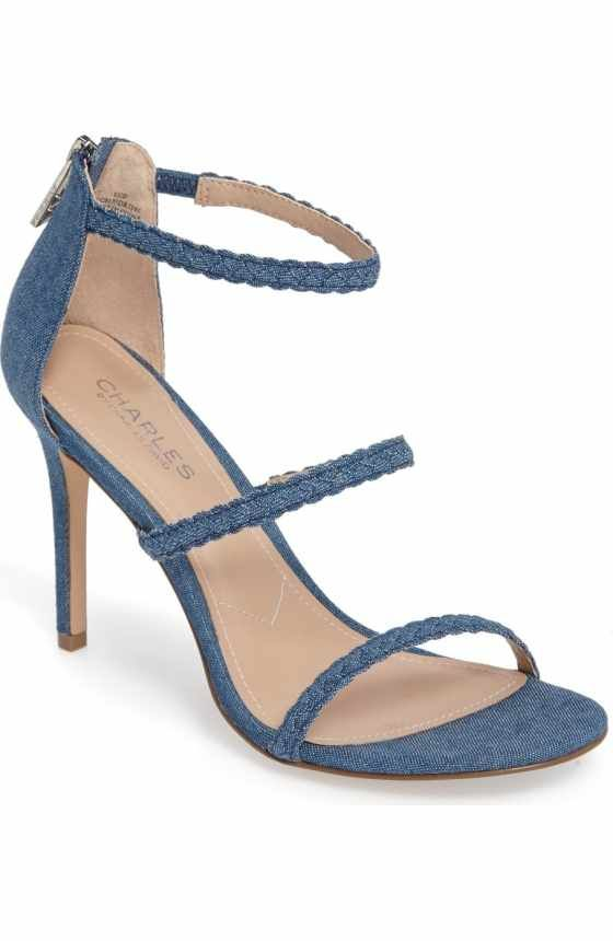 e68de1fdc52 Free shipping and returns on Charles by Charles David Ria Strappy Sandal  (Women) at Nordstrom.com. A trio of slender straps ladders up the front of  a sultry ...