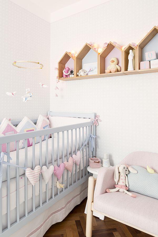 Decoração candy colors para o quarto de bebê da Antonella