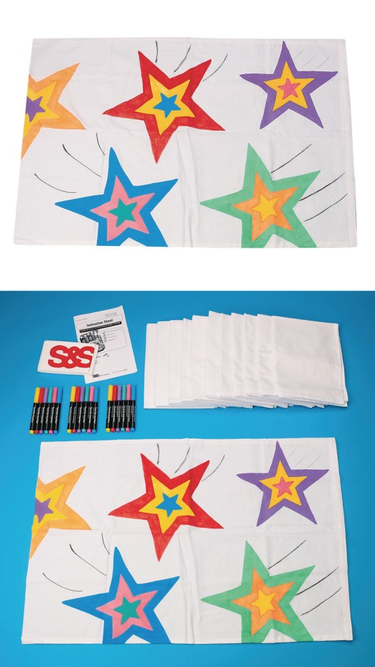 Campers Pillow Cases Craft Kit :  A dream of a project – Kids will love coloring their own pillow