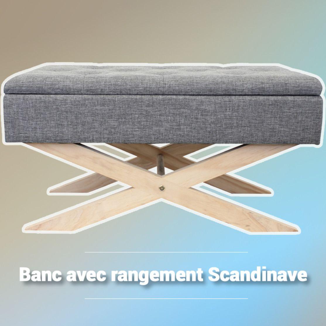 Banc Avec Rangement Scandinave La Foir Fouille Banc De Rangement Rangement Mobilier De Salon