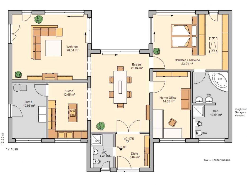 wohnzimmer grundriss möbel Ev planları, Bungalovlar ve