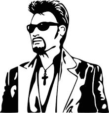 Resultat De Recherche D Images Pour Pochoir Johnny Hallyday Pochoirs Visage Johnny Hallyday Dessin Noir Et Blanc