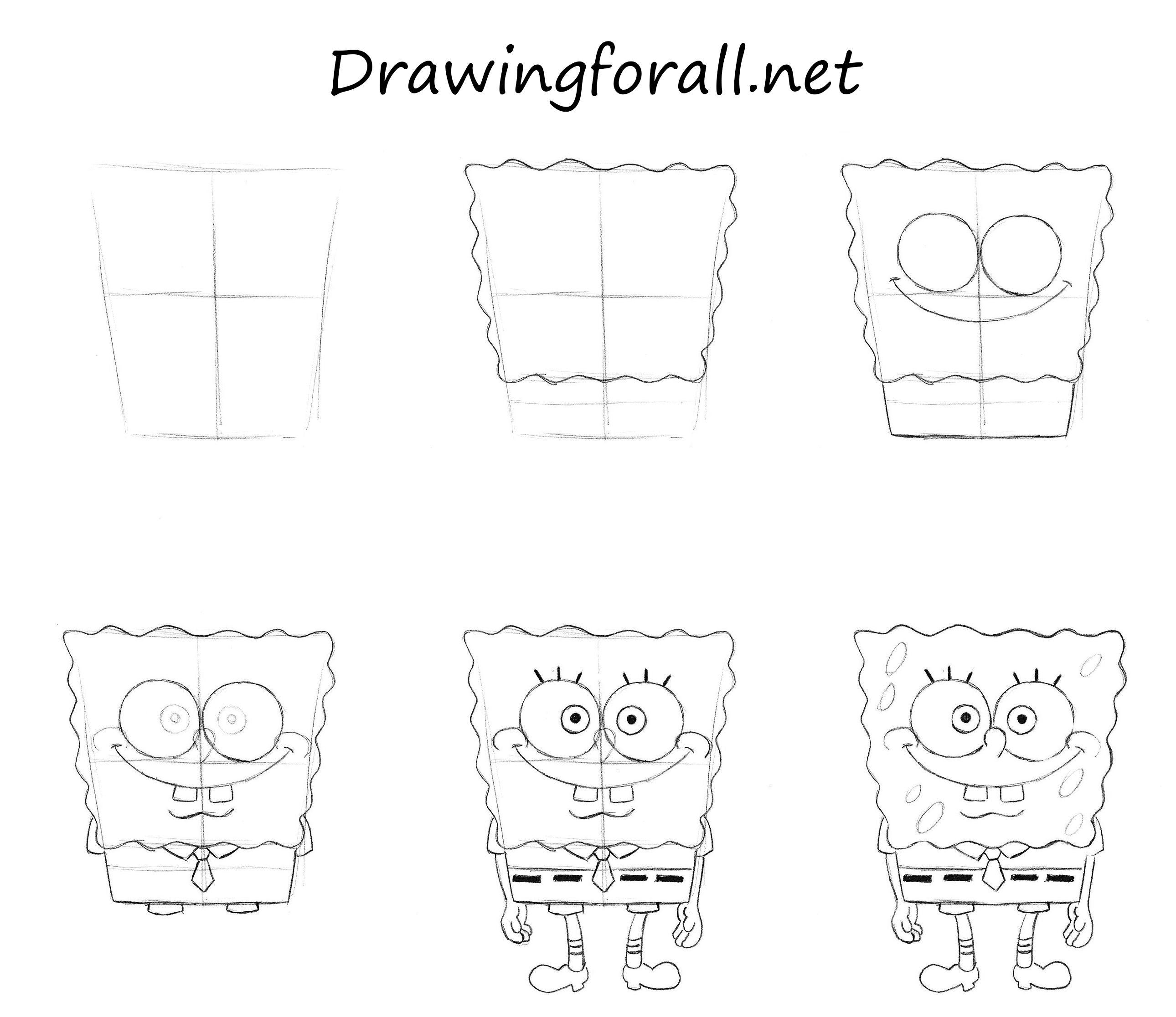 How To Draw Spongebob How To Draw Spongebob Squarepants Spongebob Squarepants Drawings Spongebob Drawings Spongebob Painting Cartoon Drawings