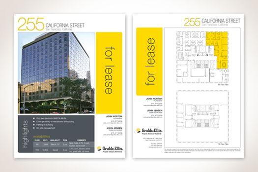 Leasing Flyer Templatebr EmGrubb Ellis Company San Francisco - Leasing flyer templates