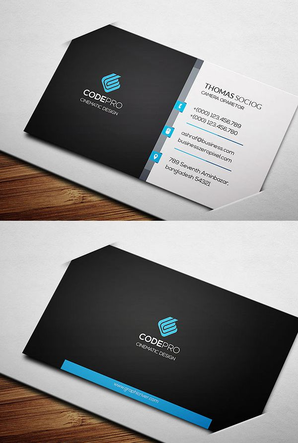 Corporate Business Card Template | Creative Cards | Pinterest ...