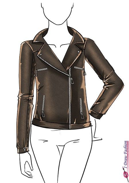 How To Draw A Leather Jacket Step By Step Tutorial 12 Art