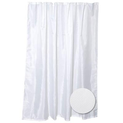 Glacier Bay 72 In Fabric Shower Curtain Liner In White H20wwhd