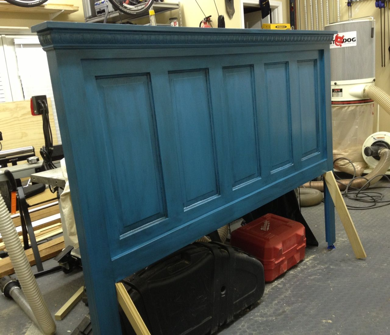 Five Panel Door Headboard 90 Year Old Door Made Into A Headboard Paint Furniture Shabby