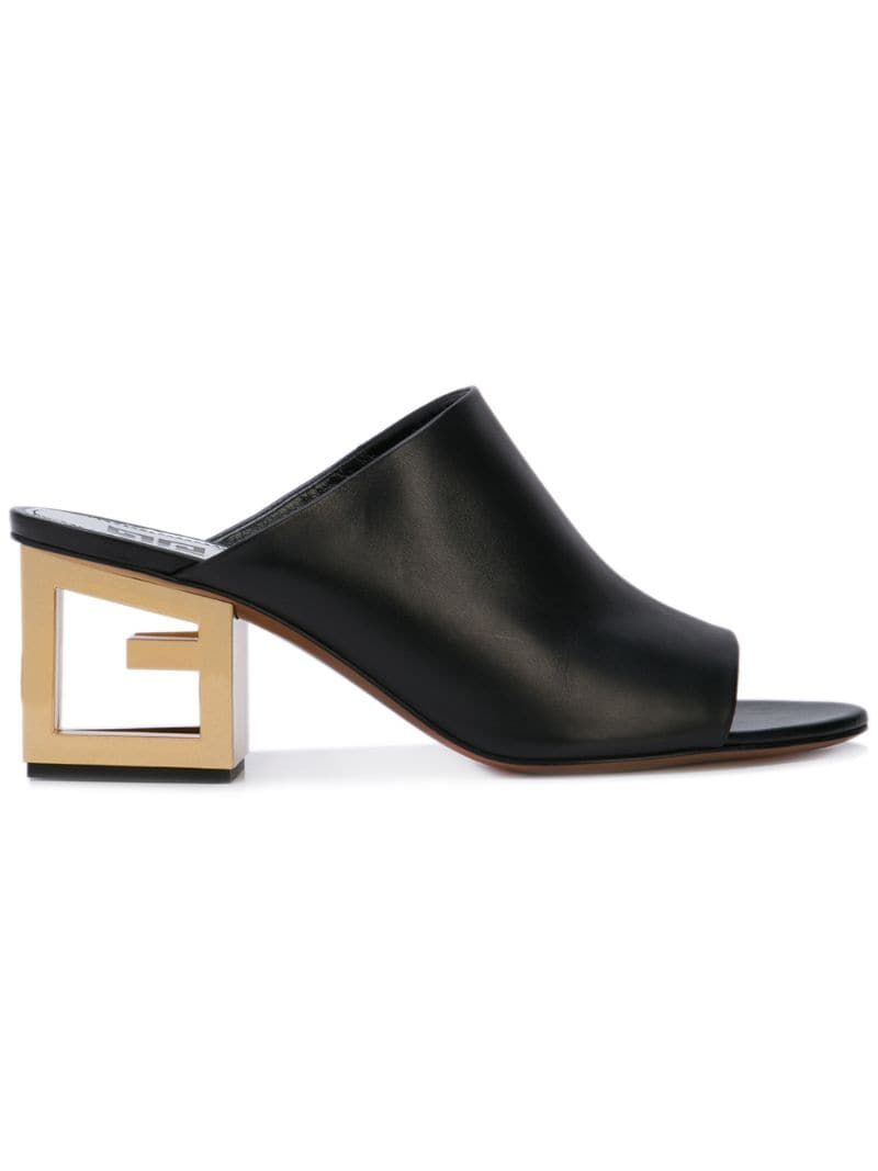 Givenchy Triangle mules Black in 2019 | Givenchy heels