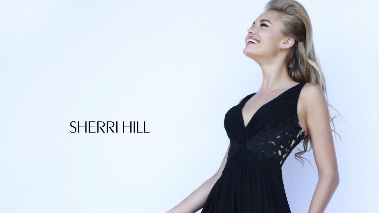 Sherri hill prom dress twostrap vneck lace back empire waist