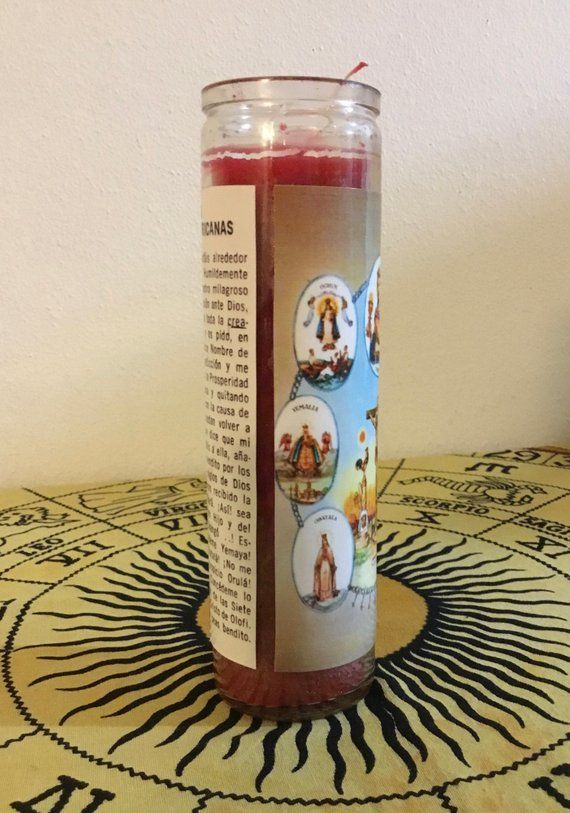 7 African Powers Prayer Handmade 7 Day Jar Candle Hoodoo