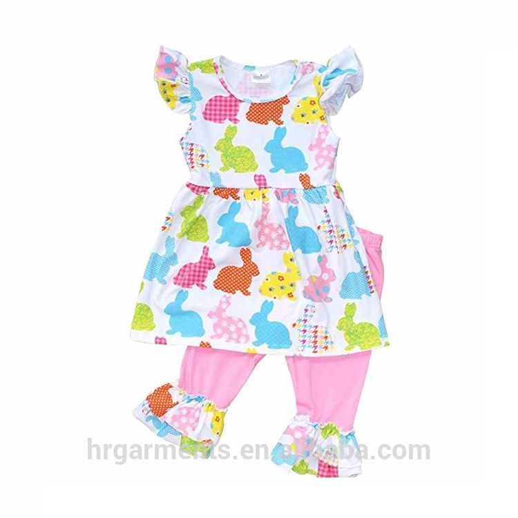 4bfb53f0f Wholesale pet rabbit clothes for girl boutique designs baby ruffle girl  outfits