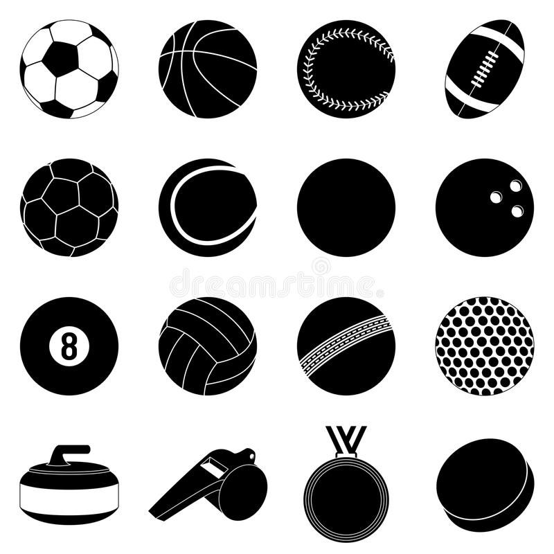 Download Sport Balls Silhouettes Collection Of 16 Sport Balls And Accessories Silhouette Sponsored Sport Balls Collection Sport Sports Balls Silhouette Ball