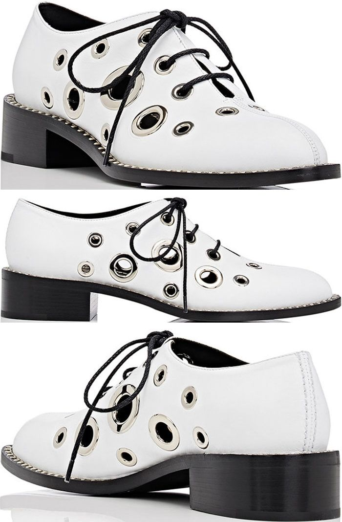 Proenza Schouler grommet-embellished oxfords