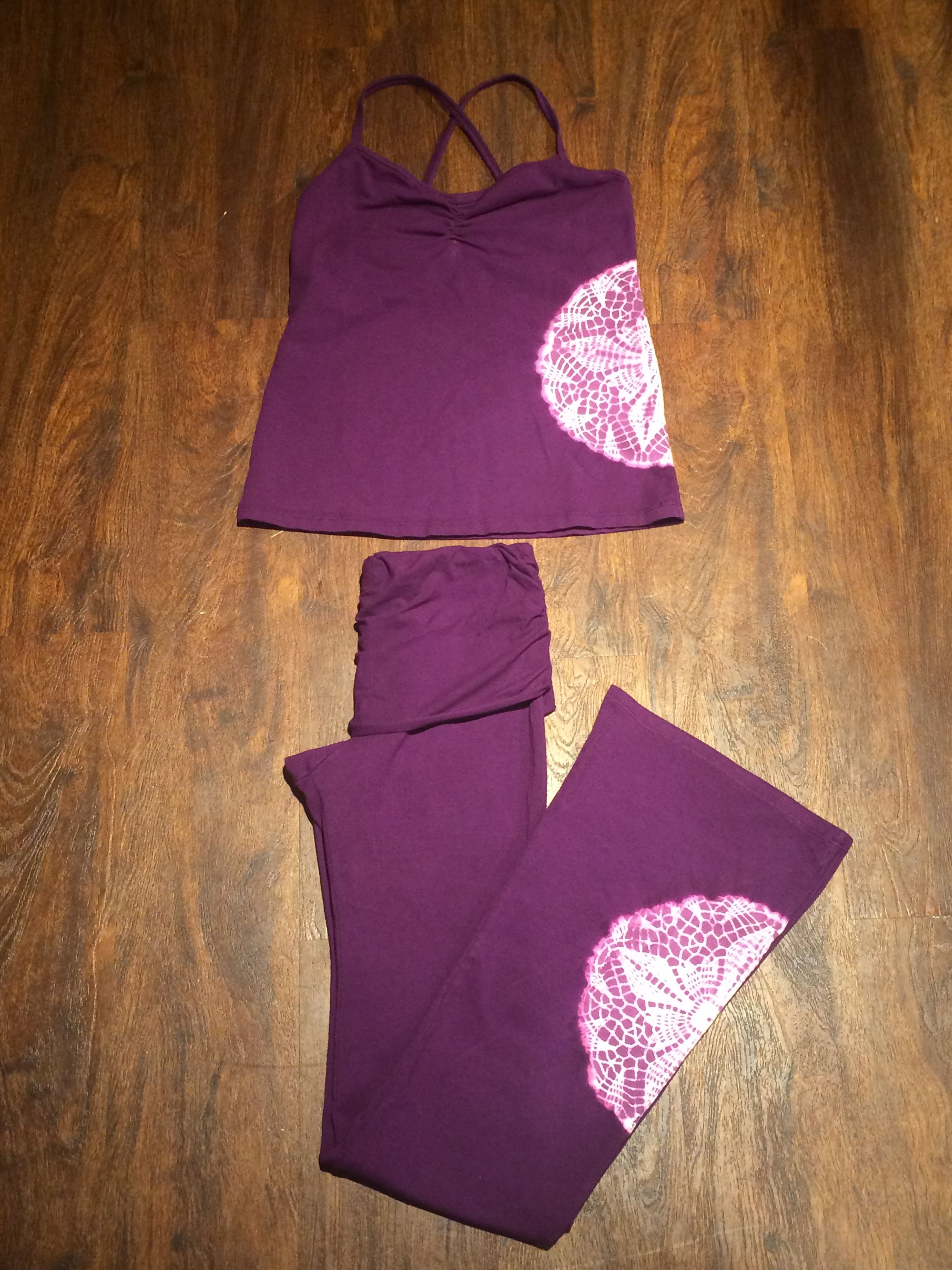Hand dyed mandala tank and pant by OmGirl   Lifestyle