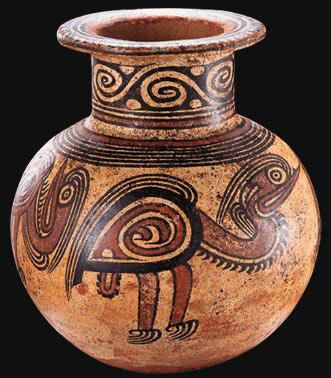 Arte precolombino de la rep blica de panam huellas for Origen de la ceramica