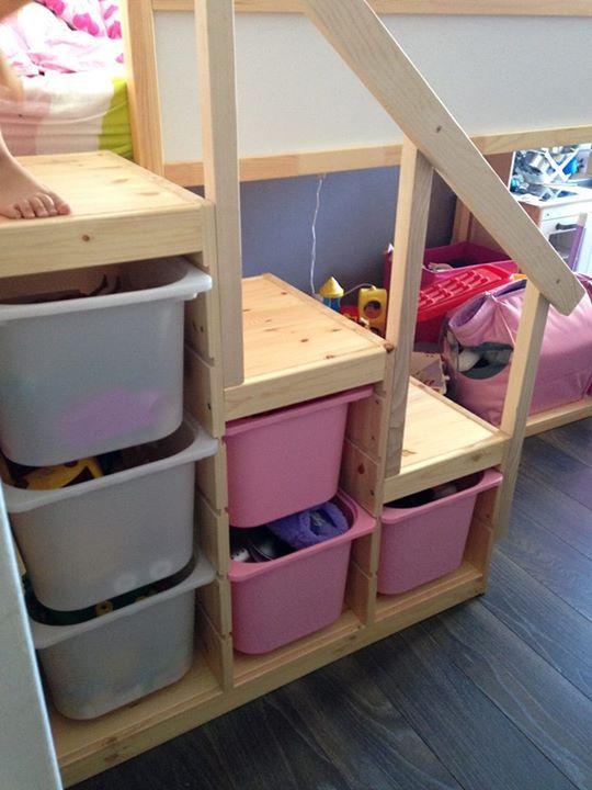 1 chambre pour 2 enfants la chambre de nos filles trucs et astuces pinterest ikea - Chambre ikea enfant ...