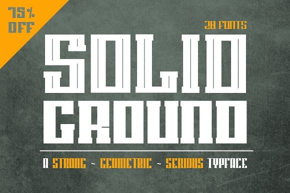 Solid Ground - 75% off by Dismantle Destroy on @creativemarket