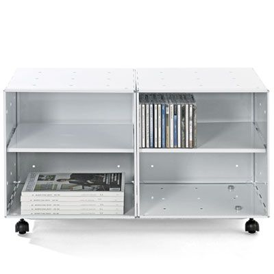 The Container Store U003e Enameled QBO® Steel Cube Storage Table