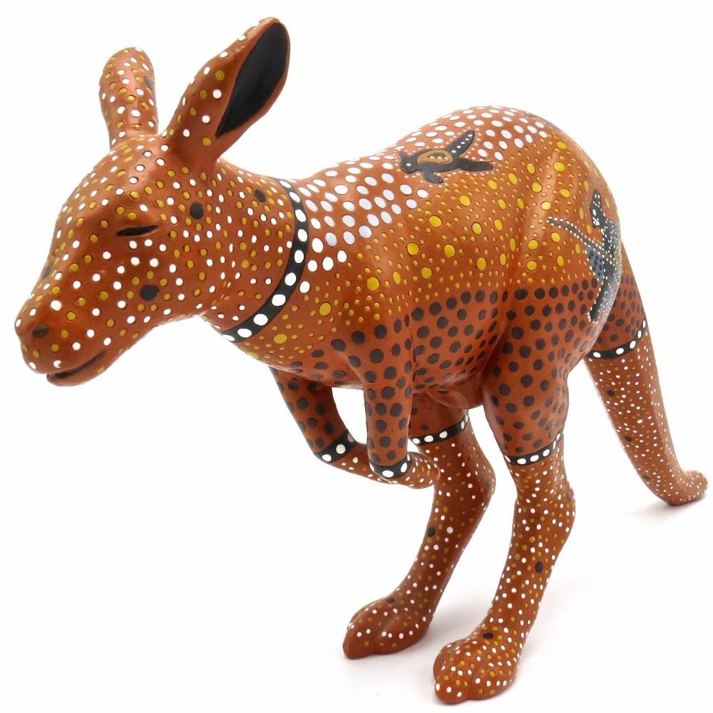Kangaroo Art Character Art Collectibles Waiting for the Moment Dreamtime Story