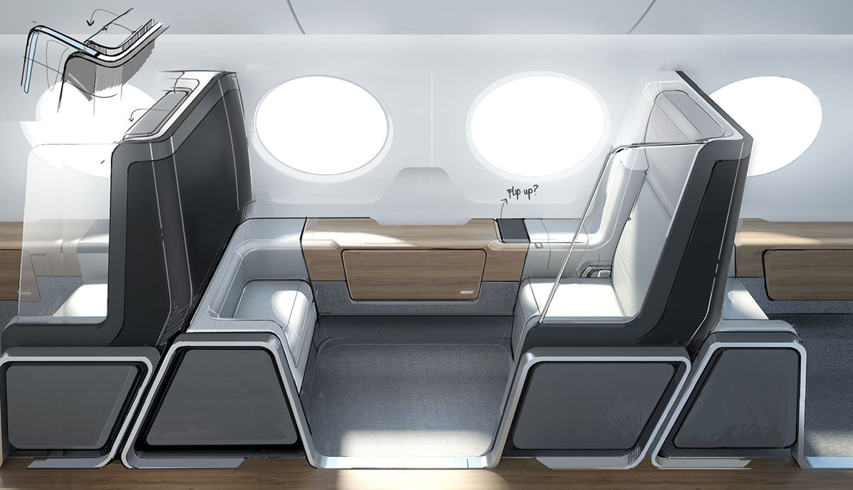 Update - Boom Supersonic Airline Interior on Behance | concept ...